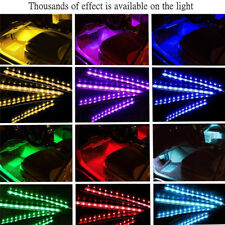 4PCS 9 LED Car Interior Atmosphere Neon Lights Strip Music Control + IR Remote