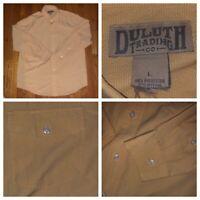 Duluth Trading Company Men's L/S Yellow Nylon Shirt Size Large