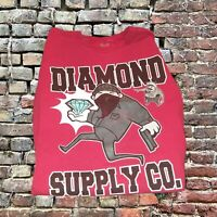 New Men's Diamond Supply Co GRAPHIC Red T Shirt Size L