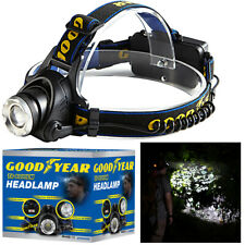 Goodyear Head Light Torch Lamp Headlamp Cree LED Rechargeable Flashlight 6000LM