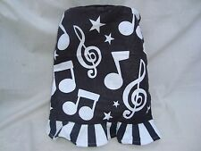 """Music Stove Top HAT Black/White Felt 12"""" Tall Great Music Gift Cute! New"""