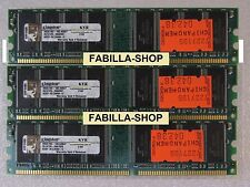 KIT RAM 3GB (3x 1Gb) 400MHZ MEMORIA DESKTOP 184PIN DDR 400 PC3200 LOW DENSITY