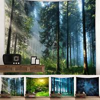 3D Wald Wandteppich Wandtuch Wandbehang Tapisserie Wandkunst Strandtuch Dekor