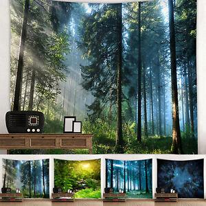 Natur Wald Muster Wandteppich Wohnkultur Tapisserie Strandtuch Wandbehang Deko