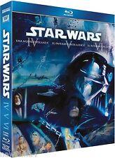 STAR WARS TRILOGIA BLU RAY EPISODIOS IV V VI 4 5 6 BLU RAY NUEVO ( SIN ABRIR )