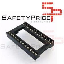 "10x Zocalo integrado 24 PINs DIP 24  Socket doble contacto 0,6 "" (15,24 mm)"