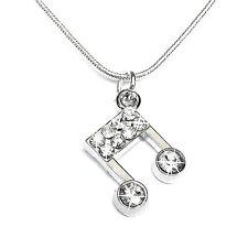 Halskette NOTE Kette Strass Schlangenkette Schmuck Mode silber Damen Mädchen Neu