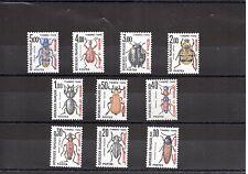 SPM Saint Pierre et Miquelon Série Taxe de 1986 N° Yvert 82/91 neufs XX insectes