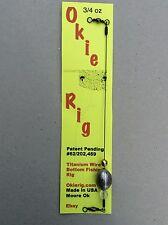 Okie Rig(Carolina Rig) 3/4 Ounce Lead Titanium Wire Bottom Fishing Rig
