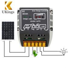 20A 12V/24V Solar Panel Charge Controller Battery Regulator Safe Protection New