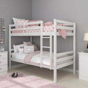 Twin over Twin Wood Bunk Bed with ladder by Hillsdale Living  Essentials