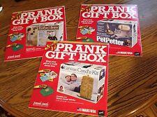 Prank Gift Box set of 3, Bathe & Brew,Pet Petter, Ear Wax Candle Kit, Gag gift