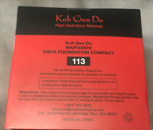 Koh Gen Do Maifanshi Aqua Foundation #113)Light Compact 10mL+2 Sponge