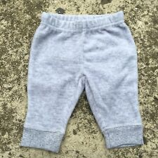 "TINY LITTLE WONDERS ""Light Grey"" Soft Fleece Baby Pants (Size 000) 0-3mth"