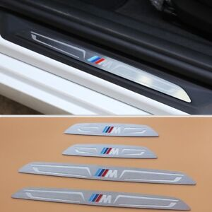 Door sill scuff plate step trim For BMW 3 Series GT F34 4 Series GC F36 2014-up