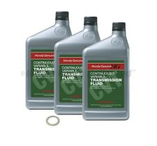 3 Qt Genuine OEM Honda CVT Fluid with FREE crush washer 08200-9006 90471-PX4-000