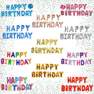 Golden Ponmoo Happy Birthday Ballon Golden Schwarz Happy Birthday Luftballons Ros/égold Geburtstag Folienballon Happy Birthday Silber Folienluftballons Dekoration Birthday Party