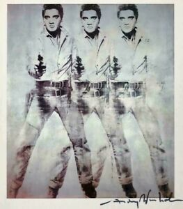 ANDY WARHOL - ELVIS LARGE WALL ART CANVAS PICTURE 20x30INCH