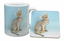 Devon Rex Kitten Cat Mug+Coaster Christmas/Birthday Gift Idea, AC-174MC