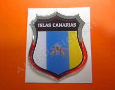 Pegatina Emblema 3D Relieve Bandera Islas Canarias- Todas las Banderas del MUNDO
