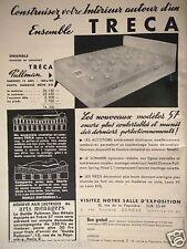 PUBLICITÉ 1957 TRÉCA ENSEMBLE MATELAS SOMMIER TRÉCA PULLMAN - ADVERTISING