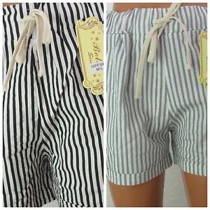 Damen Shorts Hot Pants kurze Hose Bermuda Baumwolle Sommerhose Streif klassisch