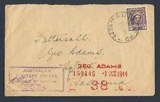 AUSTRALIA 1944 Censored Cover to TASMANIA with Censor's Marks