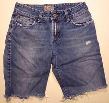 BKE Cutoff JEANS 30 Waist WOMENS Blue DENIM Distressed CUT Shorts SHORT Buckle**