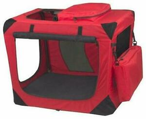 Generation Ii Deluxe Portable Soft Crate - Small/red