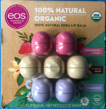 EOS Lip Balm Organic, 3 flavors 0.14 oz x 7 (7 in a pack)