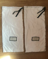 AUTHENTIC GUCCI Shoe Dust (2) Long Bags Ivory/ Cream And Black
