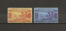 NEW HEBRIDES 1938 SG F63/4 MNH Cat £235