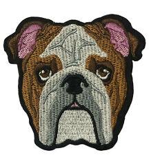 English Bulldog iron-on Patch embroidered Applique Dog Canine Pet Souvenir Craft
