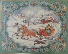 Cross Stitch TO GRANDMOTHER'S HOUSE WE GO Kit vtg1997 Bucilla #83700 Holiday NIP