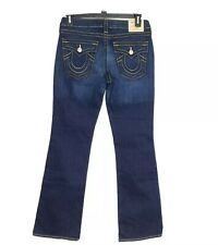 "True Religion Becky Bootcut Jeans Women's Size 31 Flap Pockets 33"" Inseam NWOT"