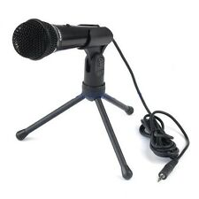 Condenser Sound Professional Microphone Mic +Stand Skype Youtube PC Laptop BLACK