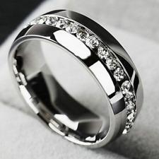 Ring 9ct White Gold size O Diamond Wedding Holiday Eternity Gift Seasonal