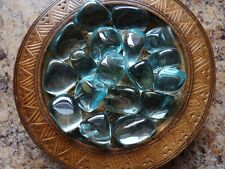 OBSIDIAN, AQUA AURA 1/4 Lb Gemstone Specimens Tumbled Wiccan Pagan Metaphysical