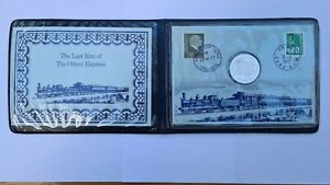 The Last Run Of The Orient Express 1977 Coin and Stamps