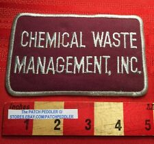 Chemical Waste Management Inc. ADVERTISING JACKET PATCH Oak Brook Illinois C634