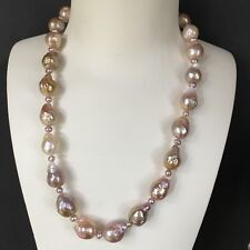 15-17.5mm Freshwater Kasumi Pearl MutilColor Necklace 52cm 14KGF highLuster#95