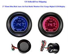 "2"" 52mm Blue/Red Auto Air/Fuel Ratio Monitor Elec Gauge Digital Led Display Car"