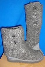 UGG Australia Lattice Cardy Strick anthrazit grau Grösse US 7 EU 38 NEU #3066