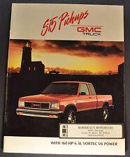 1989 GMC S-15 Pickup Truck Brochure High Sierra Classic 4x4 Nice Original 89