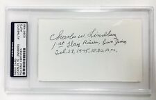 CHARLES W. LINDBERG Signed Autograph US Marines Iwo Jima Encapsulated PSA/DNA