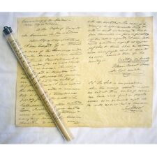 TRAVIS LETTER POSTER PARCHMENT DOCUMENT REPRODUCTION IN TUBE NEW