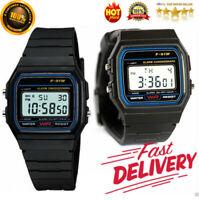 Uhr F-91W Unisex-Armbanduhr Digitaluhr Watch schwarz -Damen Herren Uhr NEU