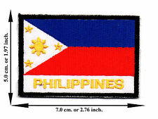 Philippines Flag Nation Football Sport Size L Logo Applique Iron on Patch