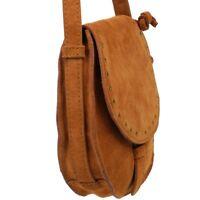 ESPRIT kleine Damen Tasche Leder Braun Schultertasche Handtasche Crossover Bag