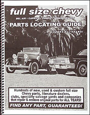 Find Chevy Car Parts with this book 1955 1956 1957 1958 1959 1960 1961 1962